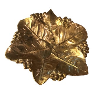 Virginia Metal Crafters Brass Lemon Leaves Tray