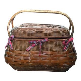 Vintage Plaid Liner Basket