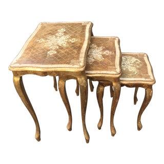 Vintage Florentine Nesting Tables - Set of 3
