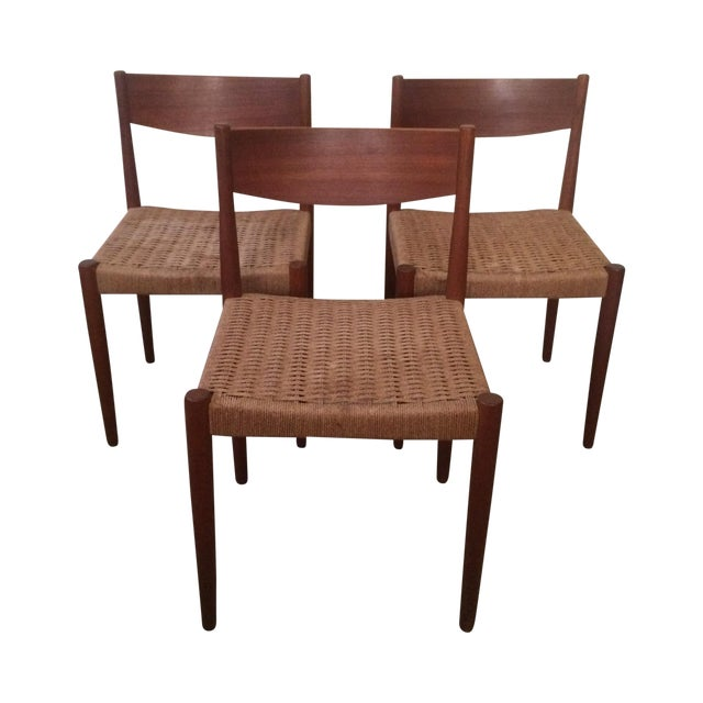 Danish Modern Dining Chairs - Set of 3 - Image 1 of 7