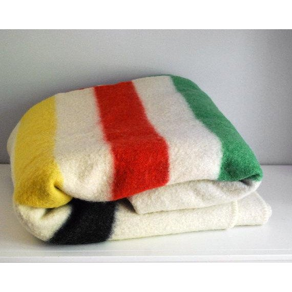 1940s Striped Wool Camp Blanket - Image 2 of 7