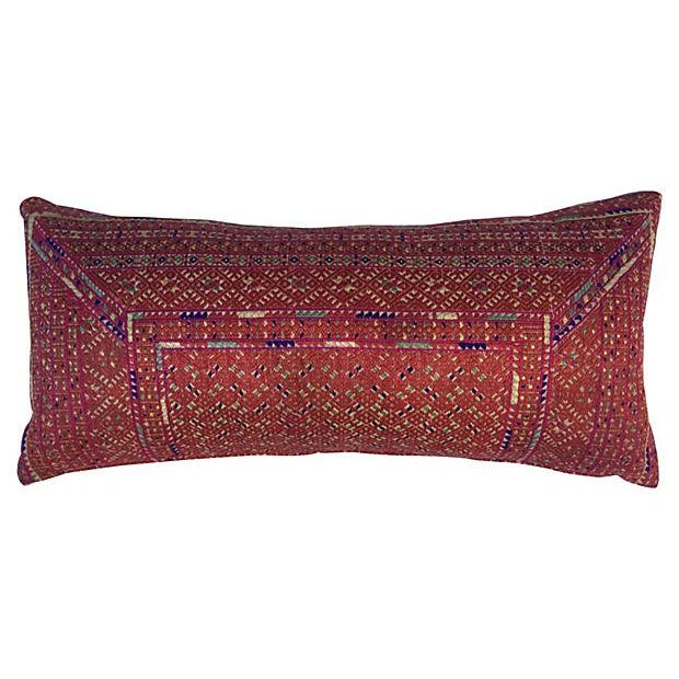 Asian Ceremonial Quilt Pillow - Image 1 of 4