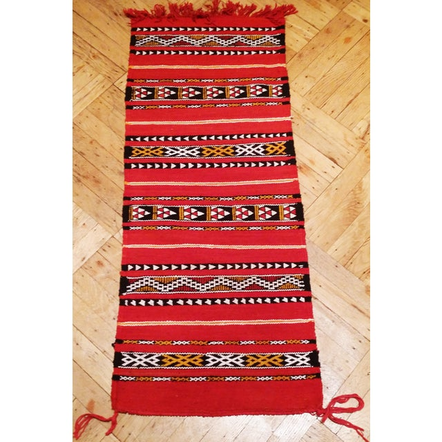 Moroccan Flat Weave Kilim Zemmour Area Rug