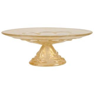 20th Century Oval Murano Pedestal Bowl