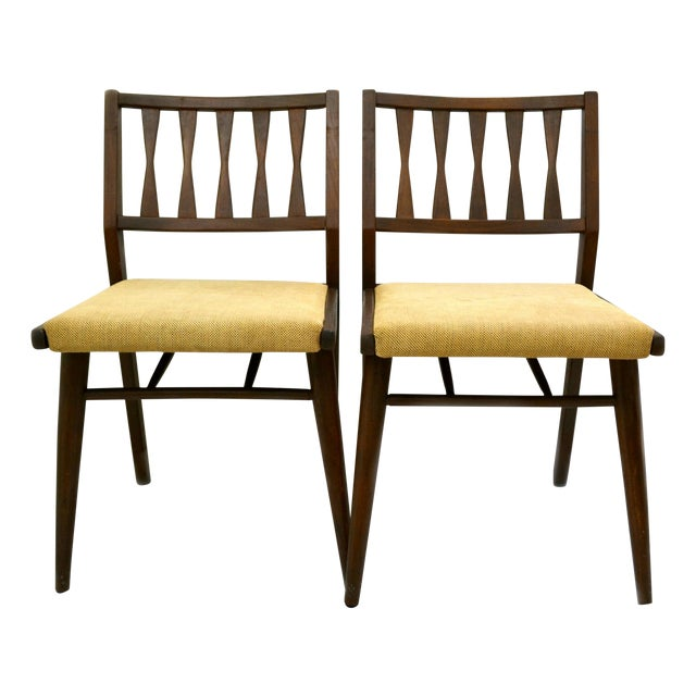 holman danish modern dining room chairs pair chairish