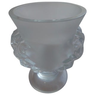 "Lalique Crystal Footed ""Elizabeth"" Vase"