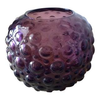 Vintage Amethyst Glass Bubble Vase