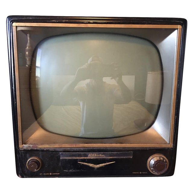 1950s Rca Television in Rare Black Metal Case - Image 1 of 8