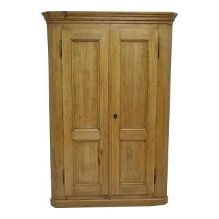 Vintage Pine Two Door Corner Cupboard