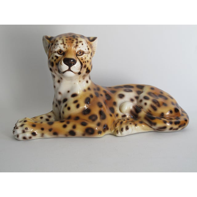 Capodimonte Ceramic Jaguar - Image 8 of 11