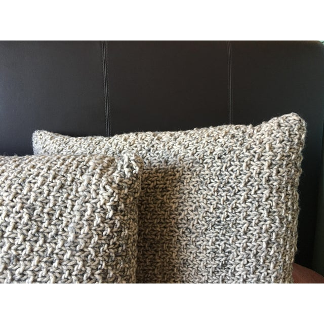 Knotted Wool Pillows, Warm Grey Decor Set/2 - Image 5 of 8
