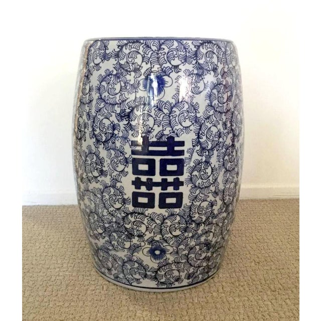 Blue Ceramic Chinese Garden Stool Chairish