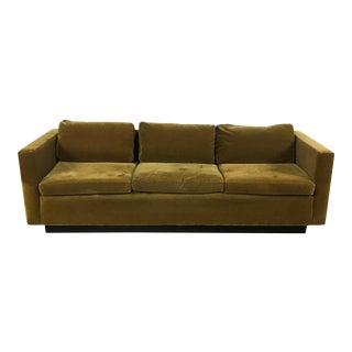 Vintage Gold Mohair Sofa