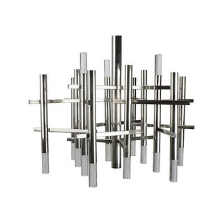 Sciolari Chrome & Lucite Chandelier