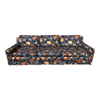 Henredon Style Vintage Asian Inspired Floral Chinoiserie Sofa