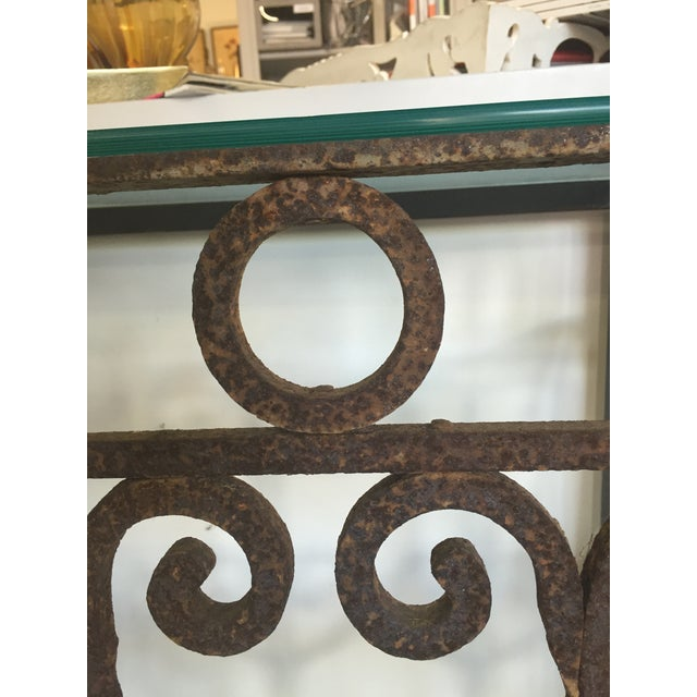Hand Forged Vintage Iron Table - Image 4 of 4