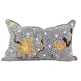 Vintage Indigo & White Batik Pillow