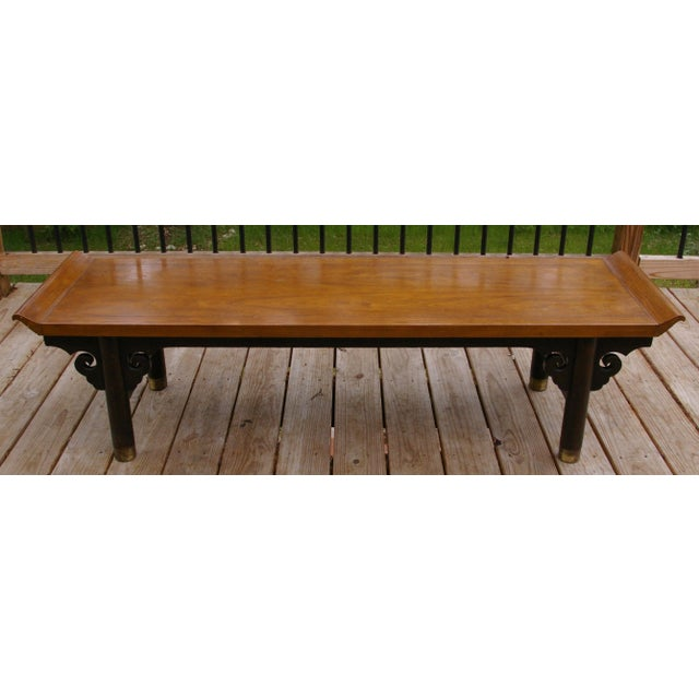 Baker Furniture Midcentury Japanese Low Table - Image 3 of 6