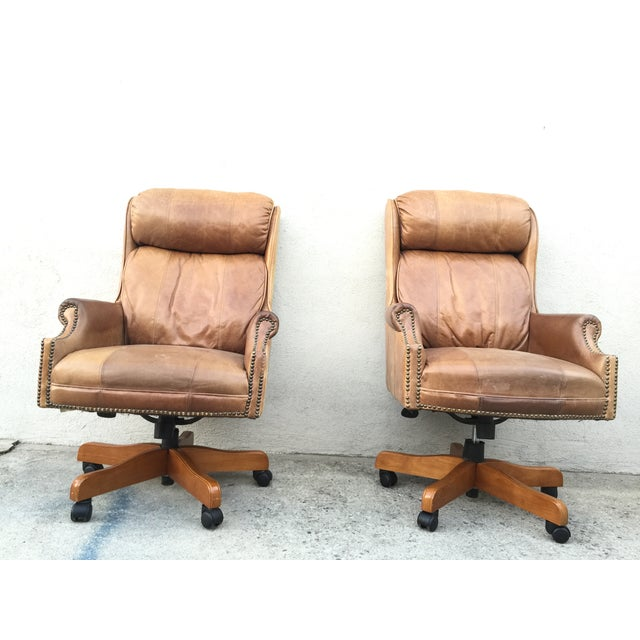 Mid-Century Italian Leather Chairs - Pair - Image 11 of 11