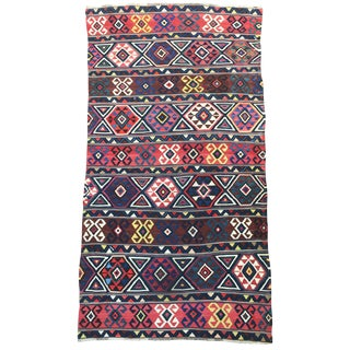 """Turkish Kilim with All Natural Dyes - 76"""" x 144"""""""