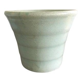 Mid Century Pale Aqua Teal Planter