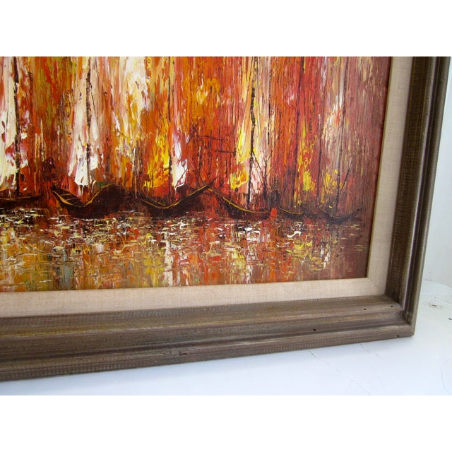 Modernist Abstract Painting - Cityscape/Waterscape - Image 9 of 11