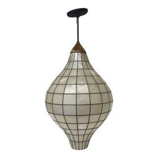 1960s Capiz Shell Pendant Light