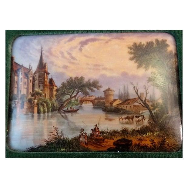 Handpainted Vignette Plaques of European Landscape - Image 3 of 8