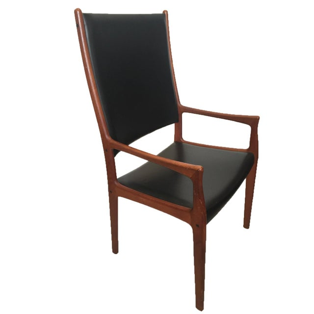 1960s Danish Modern Teak High Back Armchair - Image 1 of 2