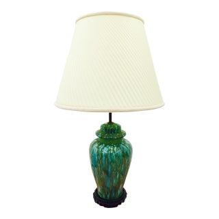 Vintage Mid-Century Glazed Ginger Jar Lamp