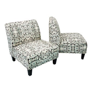 Modern Slipper Chairs - Pair