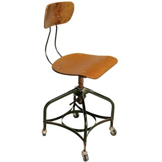 Toledo-Style Adjustable Industrial Swivel Chair