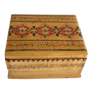 Vintage Carved Decor Wooden Box