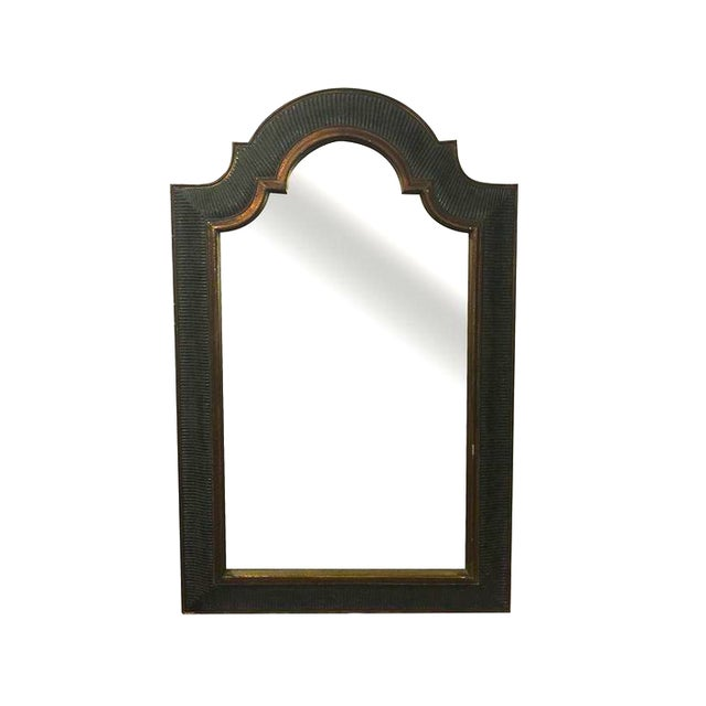 Image of Arched Mirror in Ebony and Bronze Finish