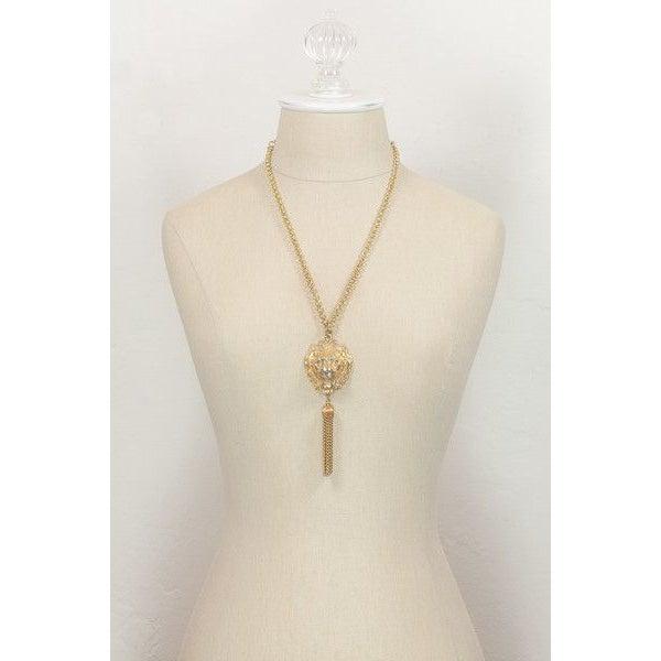 Image of Vintage Lion Tassel Necklace