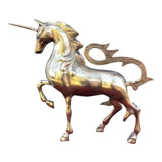 Vintage Mid-CenturyBrass Unicorn