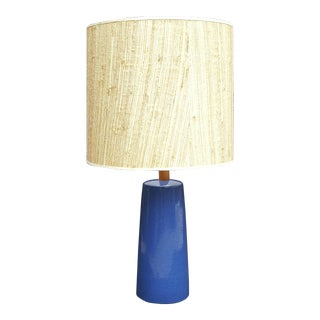 Gordon Martz Blue Pottery Table Lamp