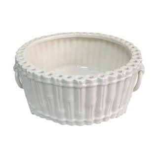 Italian Ceramic Faux Bamboo Planter