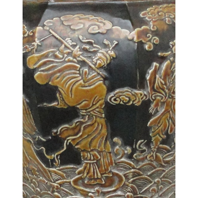 Chinese Eight Immortals Octangle Porcelain Vase - Image 7 of 10