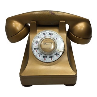 1941 Factory-Painted Gold Western Electric 302 Telephone