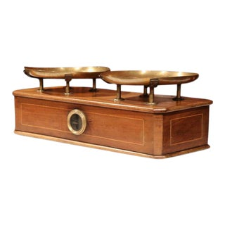 19th Century French Napoleon III Walnut Scale