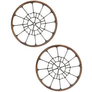Pair of Large Early Industrial Wheels