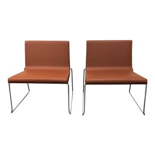 Andreu World Lineal Comfort Collection Side Chairs - A Pair