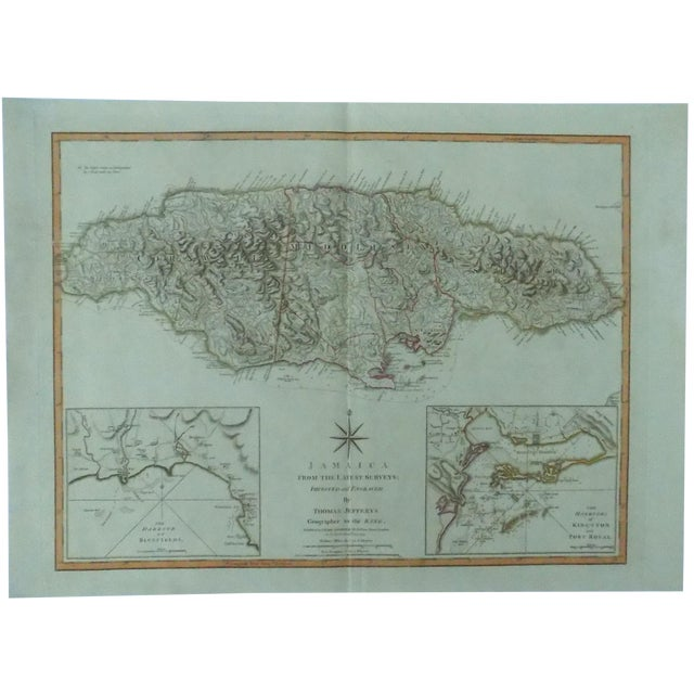 Jamaica Map by Jeffrys, 1794 - Image 1 of 8