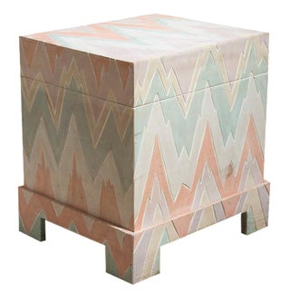 Pastel Geometric Wooden Storage Box