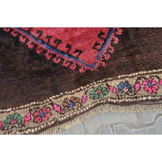 Hand Knotted Turkish Runner Rug - 4′6″ × 13′3″ - Image 3 of 11