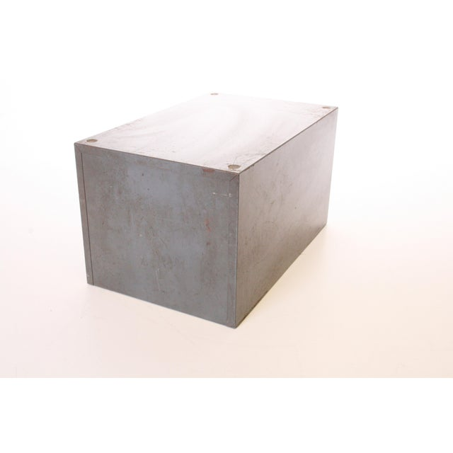 Vintage Industrial Gray 6 Drawer Kardex Style File Cabinet - Image 6 of 11