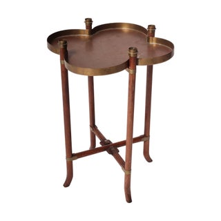 Brass Clover Side Table