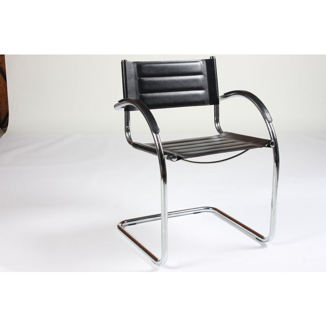Mid Century Mod Chrome Chairs - Set of 5 - Image 2 of 4