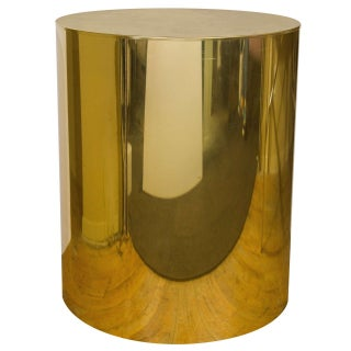 70s Glam C. Jere Brass Drum Dining Table Base